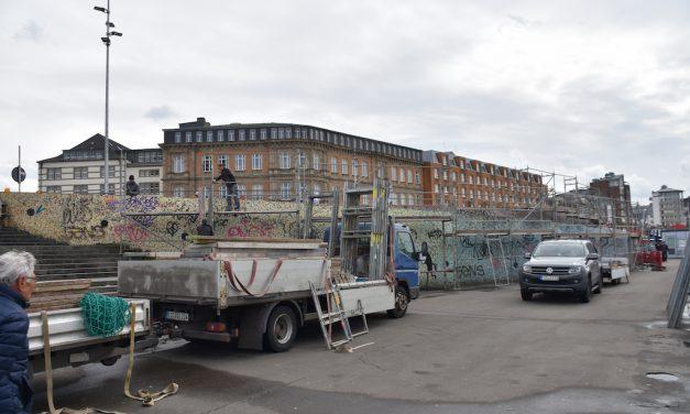 Beschmiert: Jetzt werden die Wände restauriert