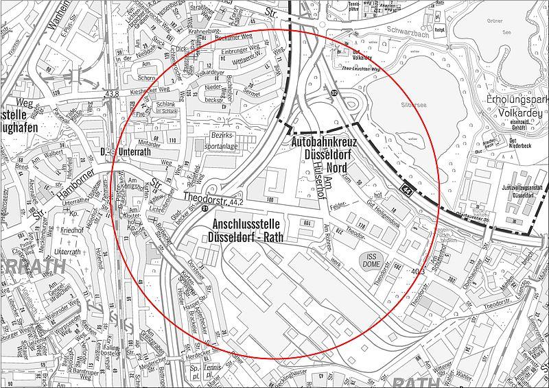 Bombenfund in Düsseldorf-Rath