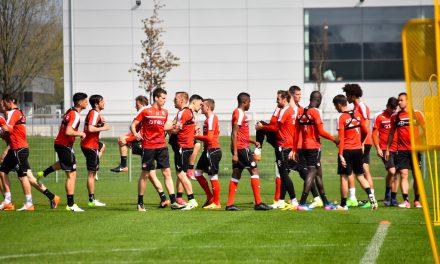 Letztes Training vor Abfahrt nach Bielefeld