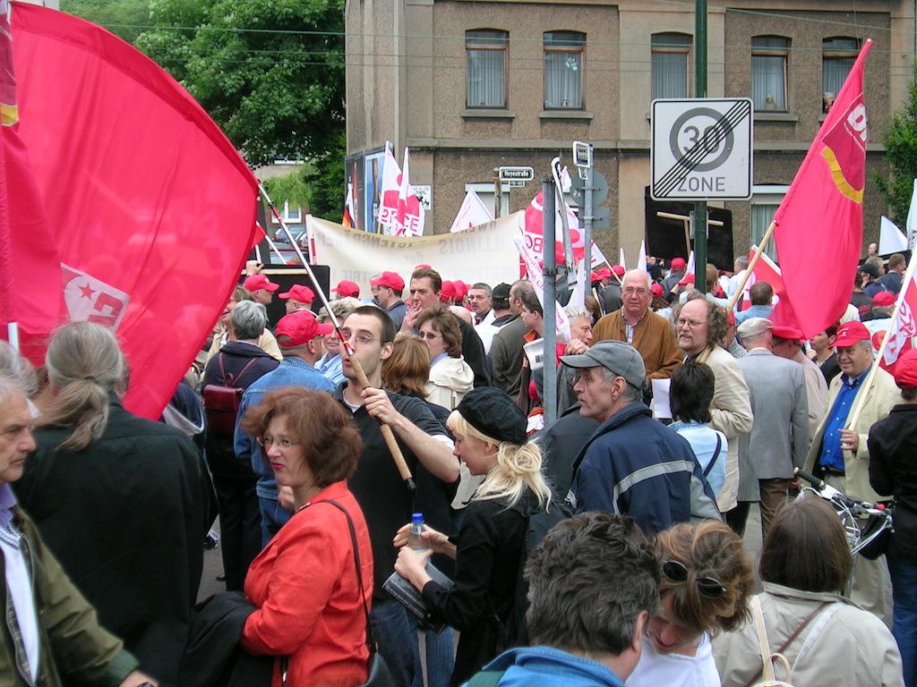 Gegen die Schließung gab es massive Proteste der Gerresheimer