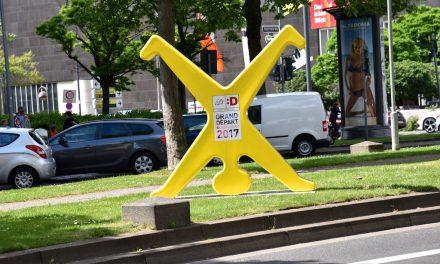 Der gelbe Radschläger