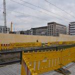 Sichtschutz zur Baustelle als Werbewand