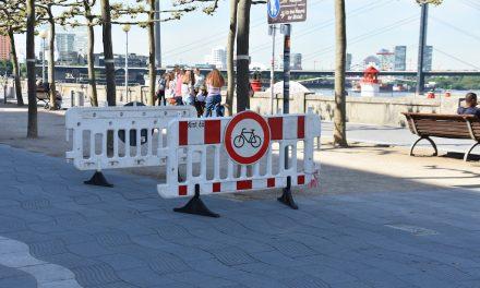 Fahrradwege gesperrt !