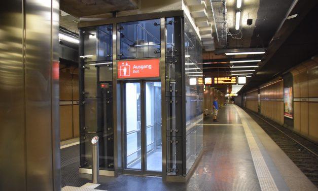 Aufzug Nordstraße in Betrieb