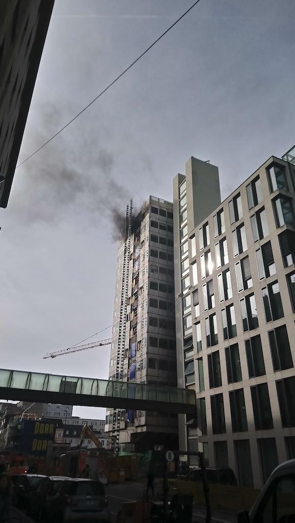 Kurz nach Ausbruch des Feuers Foto; Jens Stellmann