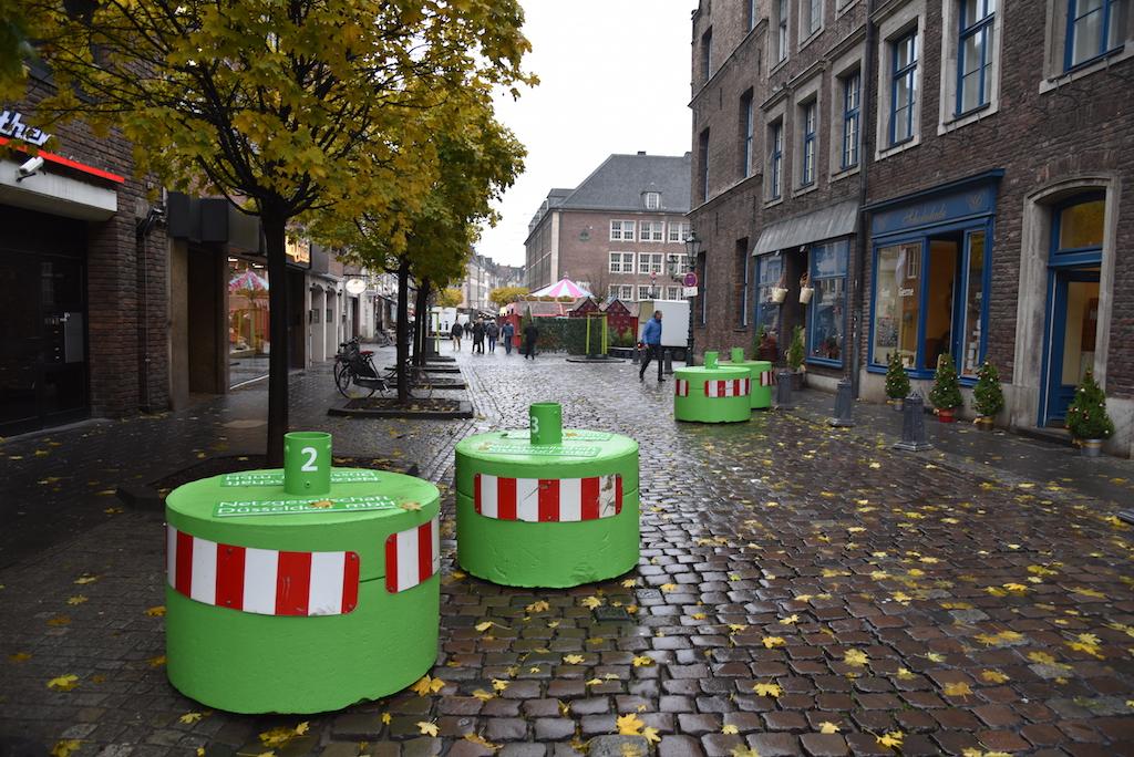 Sicherungspoller in der Altstadt Foto: LOKALBÜRO