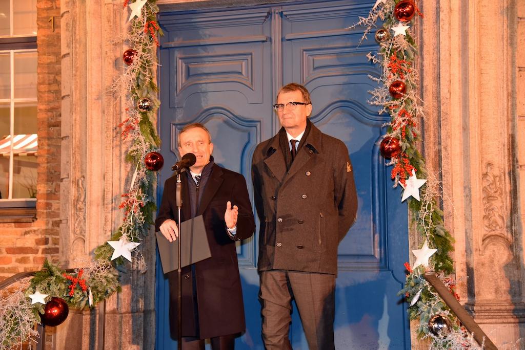 Oberbürgermeister Thomas Geisel und Frank Schrader Foto: LOKALBÜRO