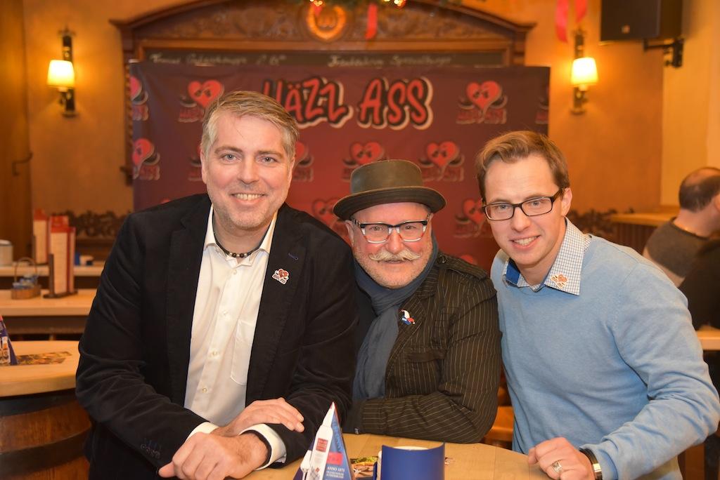 Häzz Ass v.l. Oliver Decker, Rainer Lieverscheidt und Matthias Cantek Foto: LOKALBÜRO