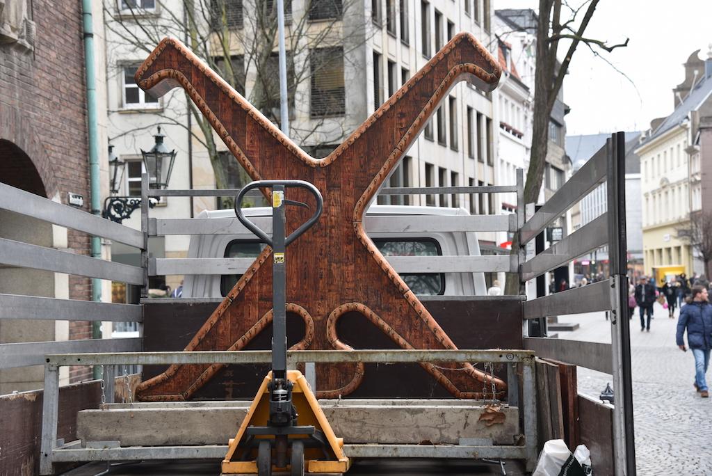 Abbau des Radschlägers Foto: LOKALBÜRO
