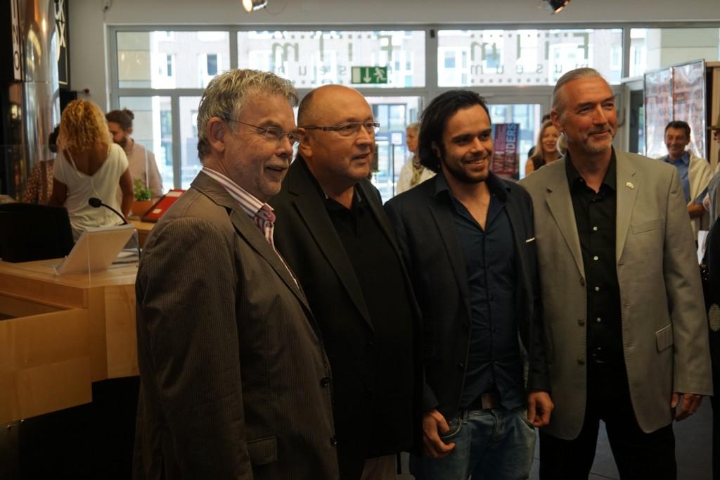 Manfred Breuckmann, Christoph Böll, Sergio Falaguerra, Bernd Desinger (v.l.) Foto: Lokalbüro