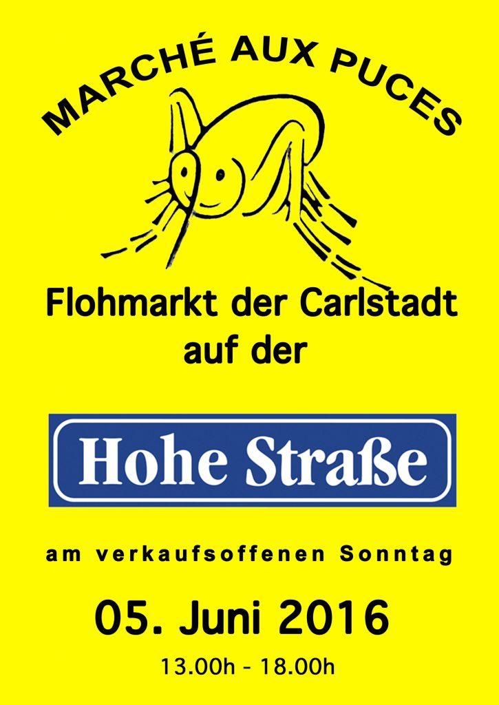 Flohmarkt gelb Strasse 2016