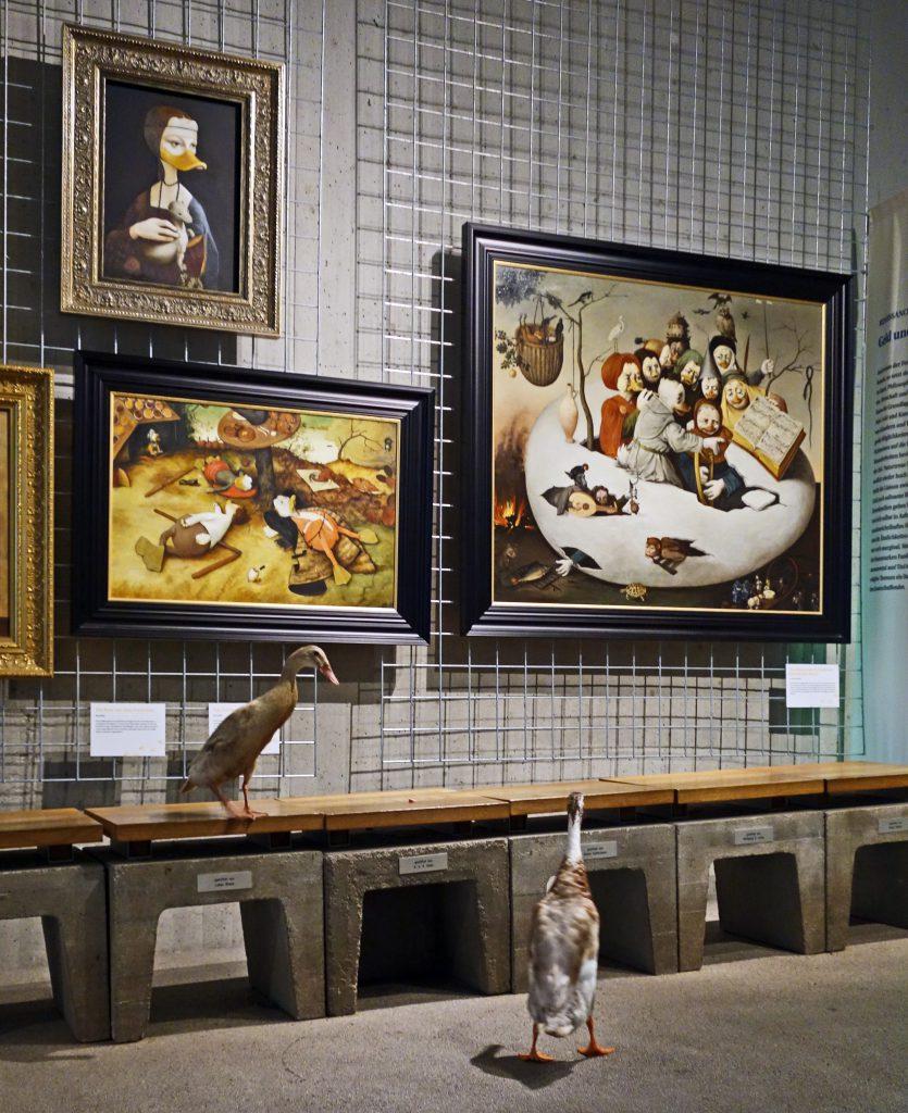 Beeindruckt von den Kunstwerken: Arten und Aragorn