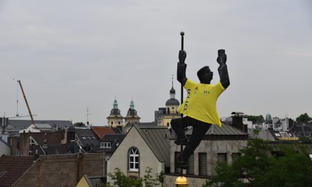 Uerige im gelben Trikot