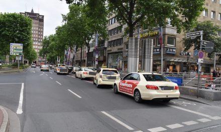 Radler-Falle Heine-Allee: Stadt auf Tauchstation