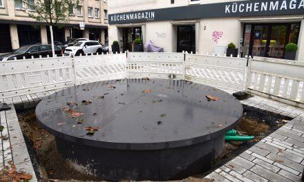 Neuer Wassertisch an der Klosterstraße
