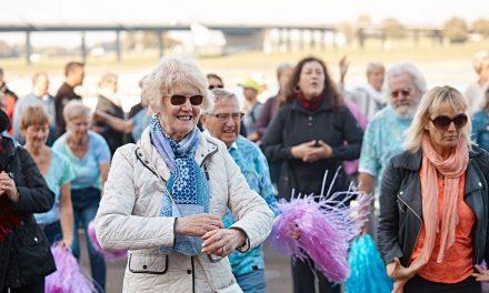 Seniorenflashmob