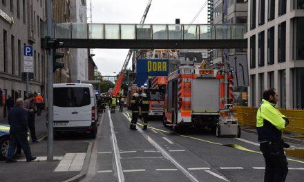 Feuer im alten Commerzbankgebäude