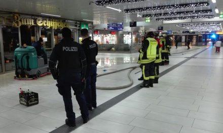 Feuer im Restaurant des Hauptbahnhofs – Sprinkleranlage verhindert größeren Brandschaden