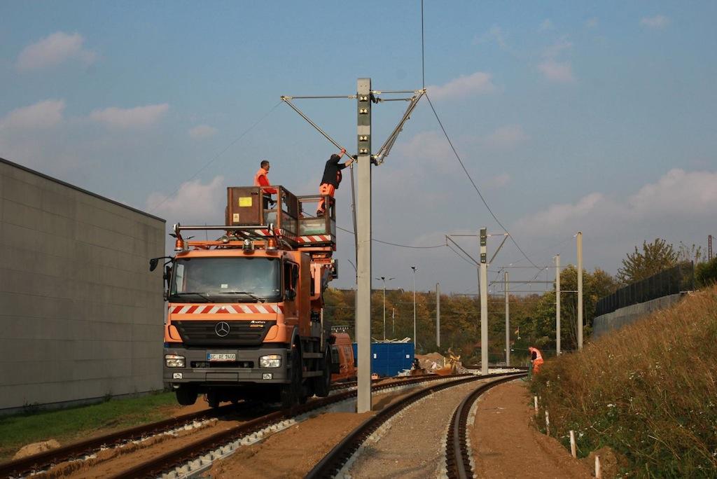 Seilmontage Foto: Rheinbahn