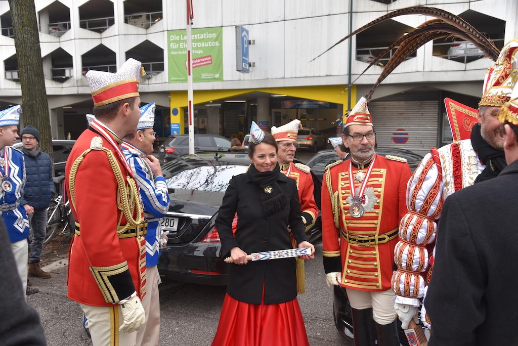 Christian Dauser empfängt das Prinzenpaar Foto: LOKALBÜRO