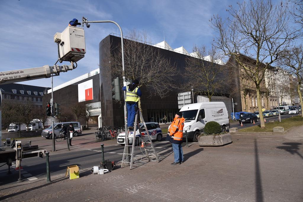 Installation der neuen Kameras Foto: LOKALBÜRO