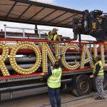Circus Roncalli beginnt mit Zeltaufbau