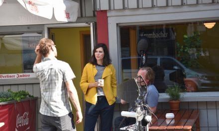 Filmdreh mit Nora Tschirner in Düsseldorf