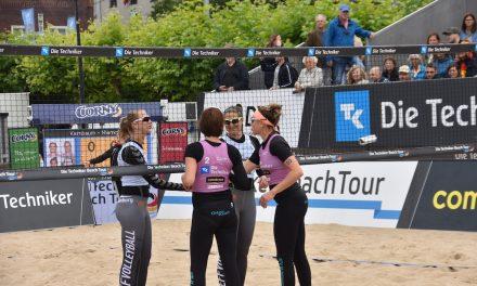 Superstimmung beim Beachvolleyball in Düsseldorf