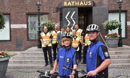 Neue Fahrradstaffel des Ordnungsamtes im Einsatz