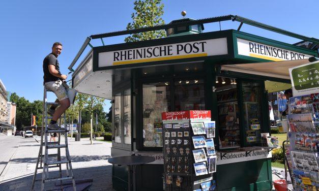 Zeitungsbüdchen am Corneliusplatz aufgefrischt