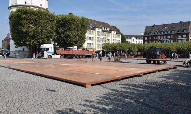 Blindenfußballturnier auf dem Burgplatz