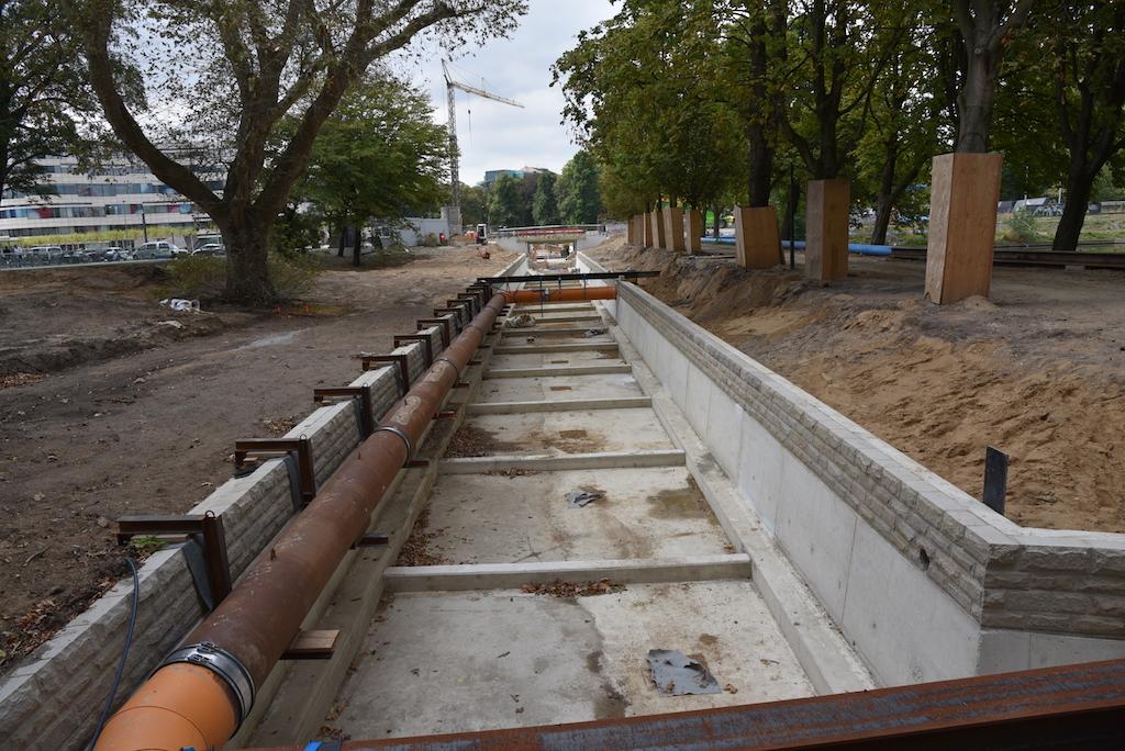 Das neue Flussbett der Düssel
