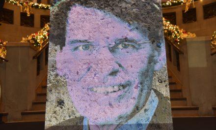 Enthüllung des Joachim Erwin Porträt im Andreas Quartier