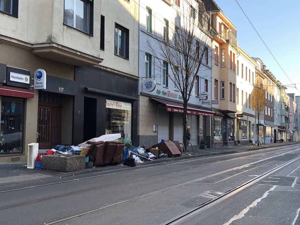 Müllkippe Heyestraße Foto: LOKALBÜRO