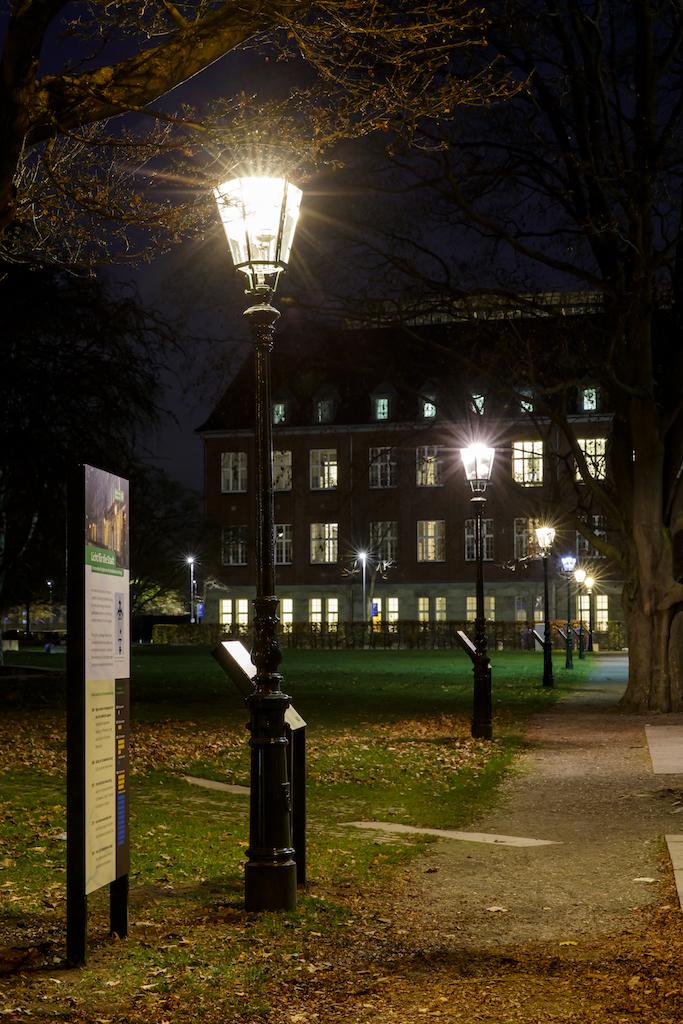 Mit einem Lichterweg demonstrieren die Stadtwerke verschiedene Beleuchtungsarten,(c)Stadtwerke Düsseldorf AG