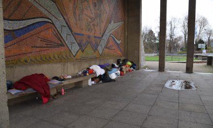 Räumung des Obdachlosen-Camps ausgesetzt