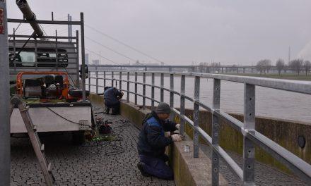 Am Rhein: Fußgänger-Absturz-Zäune erhöht