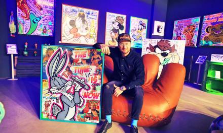 Dennis Klapschus, ein Sprayart Künstler eröffnet im Kö-Bogen