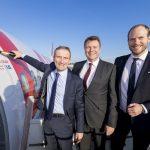 Laudamotion A320 mit neuer Lackierung in Düsseldorf gelandet!