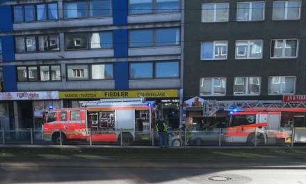 Münsterstraße — Brand in einemAnbau