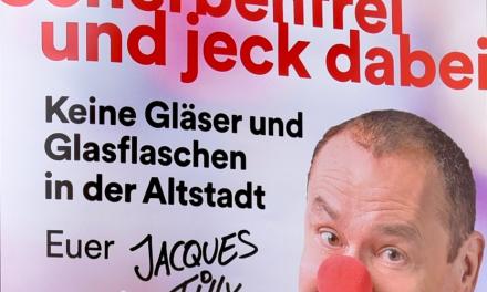 Scherbenfreie Altstadt: Bewährtes Konzept mit neuem Plakatmotiv