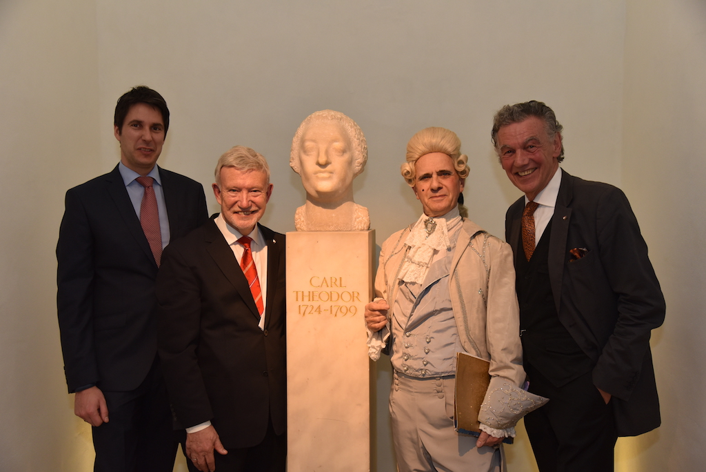 v.l. Nicolas Maas, Michael Schaar, zweimal Carl Theodor und Jonges Baas Wolfgang Rolshoven