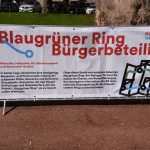 Aufbau für Bürgerbeteiligung Blaugrüner Ring