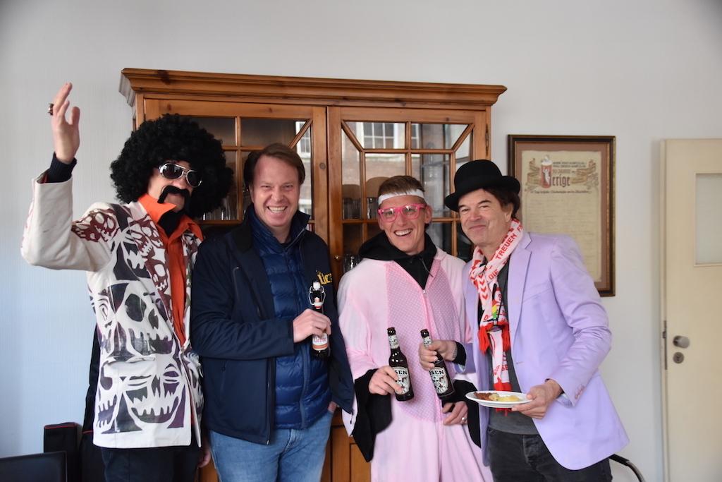 Breiti, Michacel Schnitzler, Axel Bellinghausen und Campino Foto: LOKALBÜRO