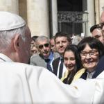 Unicef Motor Heribert Klein zur Generalaudienz beim Papst