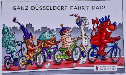 Die Fahrradstadt Düsseldorf wie Jacques Tilly sie sieht