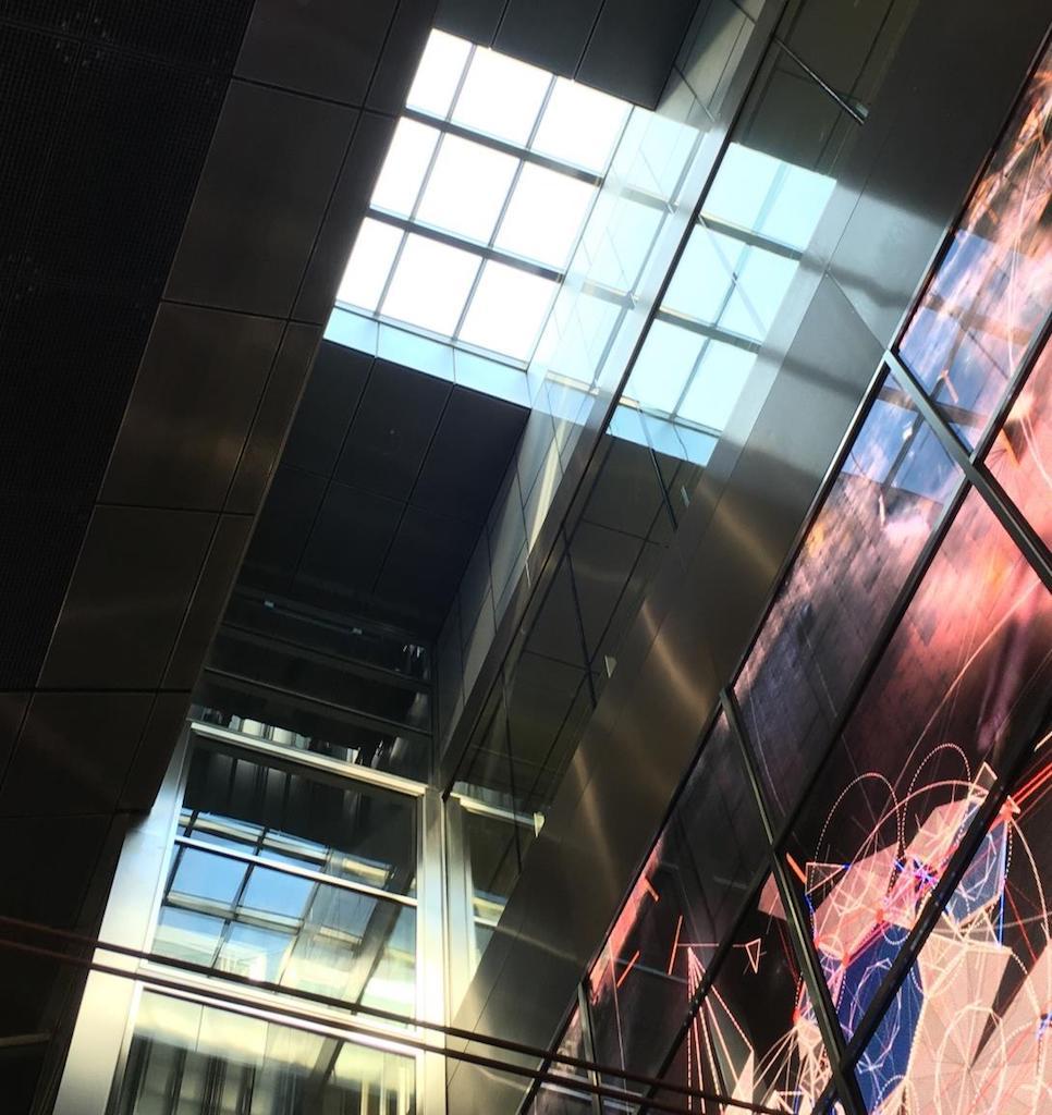 Blick auf das Oberlicht im U-Bahnhof Schadowstraße, das umgebaut werden wird.,(c)Landeshauptstadt Düsseldorf, Amt für Verkehrsmanagement