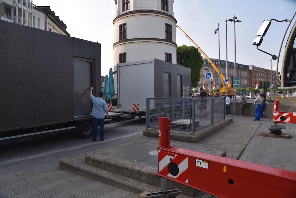 Ankunft der Anlage Foto: LOKALBÜRO