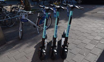 E-Scooter in Düsseldorf angekommen.