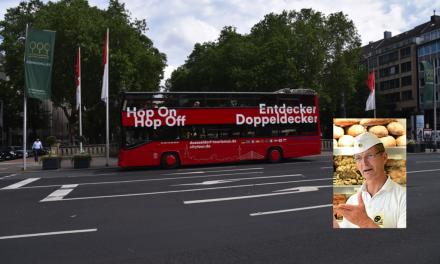 """""""Mein Düsseldorf"""" mit Josef Hinkel im Doppeldecker-Bus"""